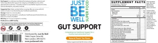 Just Be Well Super Food - Gut Support Supplement Facts
