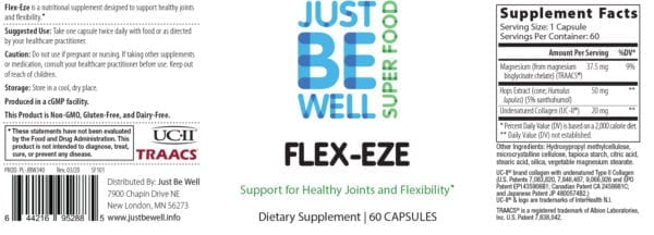 Just Be Well Super Food - Flex-Eze Supplement Facts