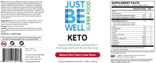 Just Be Well Super Food - Keto Supplement Facts