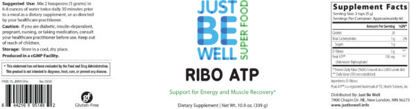 Just Be Well Super Food - Ribo ATP Supplement Facts